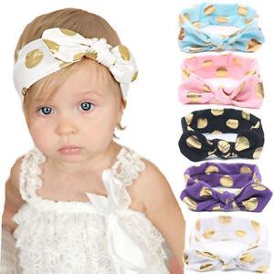 Baby Girls Bunny Kids Turban Knot Bunny Rabbit Headband Bow Hair ... d35addf83b8