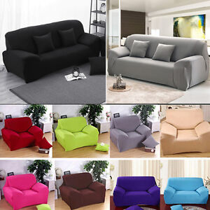 Image Is Loading L Shape Couch Cover Stretch Elastic Fabric Sofa