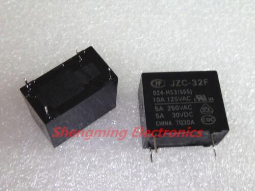 555 50PCS 24V JZC-32F-024-HS3 HF32F-24V-HS SPST 5A 250VAC//30VDC 4Pins Relays
