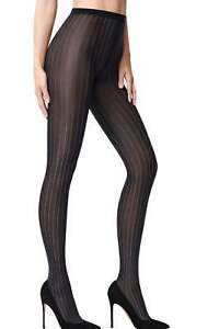 Bianco Pinstripe Murial Nero Collant 14697 Wolford XzCaqxw5n