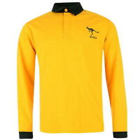 Genuine Team Australia Men's Long Sleeve Rugby Shirt, Size: S (chest:40-42)