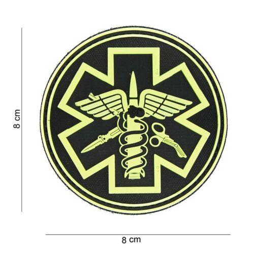 Para Medic NERO GIALLO PATCH DISTINTIVO Velcro Airsoft Paintball Softair