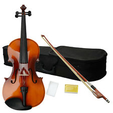 New 16 Inch Brown Adult Acoustic Viola with Case Rosin Bow 16""