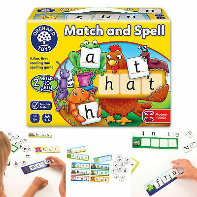 Kids Fun Match and Spell Memory Game Learn Reading and Spelling Pre School Toys