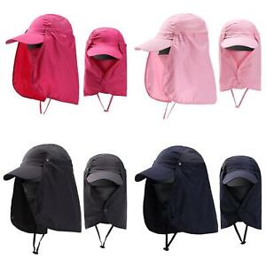 Cap-UV-Protection-Adjustable-Baseball-Cap-Blank-Solid-Hat-with-Face-Neck-Flap