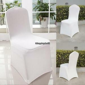 25 Ivory POLYESTER BANQUET CHAIR COVERS Wedding Reception Party Decorations
