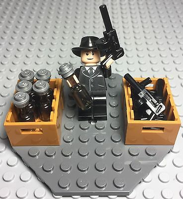 Weapon City //Minifigure Not Included Lego Minifigure Tommy Gun X2 Gangster