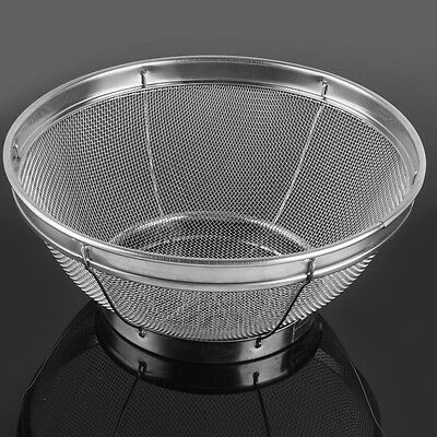 Stainless Steel Fine Mesh Strainer Colander Rice Vegetable Fruit Sifter Sieve