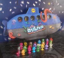"""Lidl Stikeez! """"Die Stikeez aus den Tiefen des Ozeans"""" Alle 24 Figuren + U-Boot!!"""