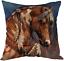 thumbnail 1 - Moslion Indian Horse Cotton Linen Square Decorative Throw Pillow Covers Brown Ho