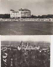 2 Postcard  Sitges - Hotel Terramar private beach, Monastery de El Escorial