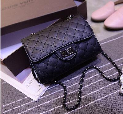 New Designer Womens Leather Shoulder Bag Quilted Chain Crossbody Handbag Purse