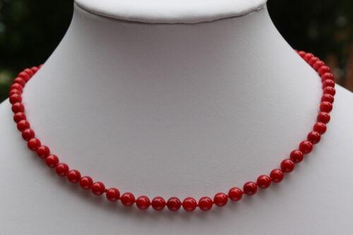 K3 46cm Perlen Stein Schmuck Perlenkette Halsketten Collier Korallenkette Kette