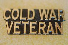 US USA Cold War Veteran Military Hat Lapel Pin