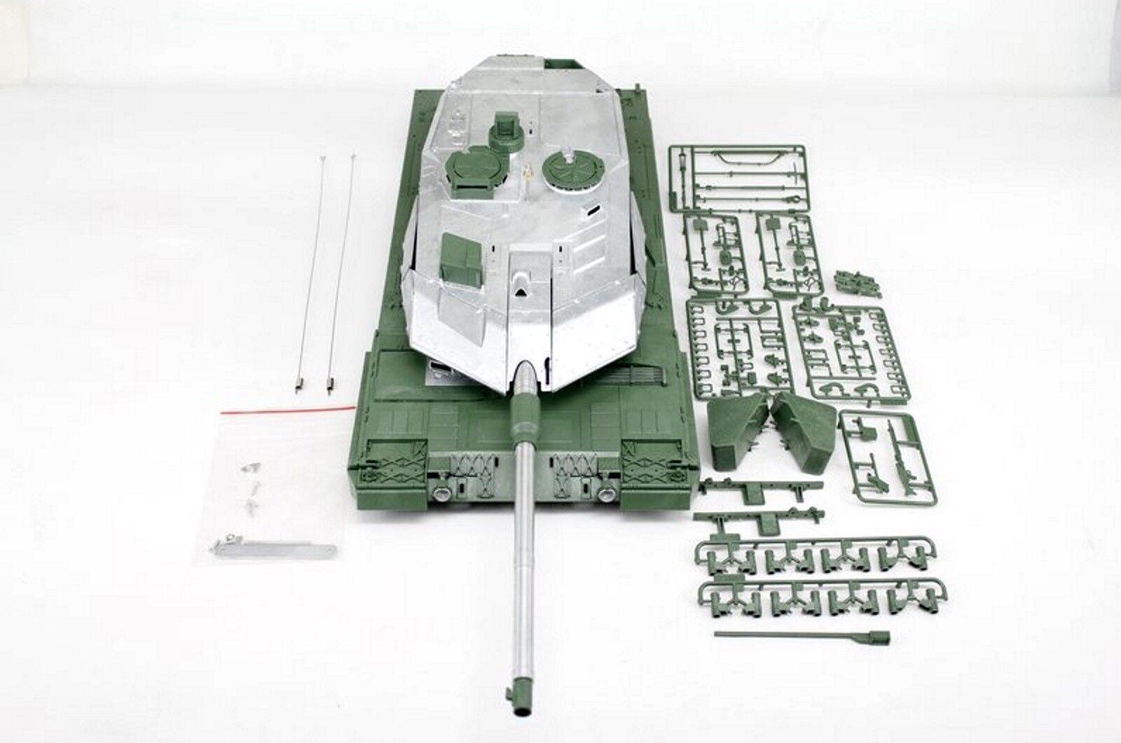 Torro 1:16 parte superiore dello scafo con metallturm BB-SHOT Leopard 2A6 IR 360   1383889014
