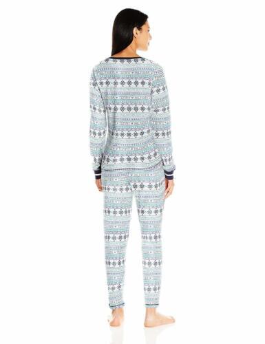 Tommy Hilfiger Women/'s Thermal Long Sleeve Ski Pajama Set Pj Choose SZ//Color