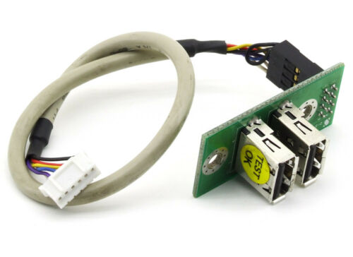 Dual 2 Port USB Socket Board Module Panel Internal Cable 6 Pin Cable 4BZUSB02A1