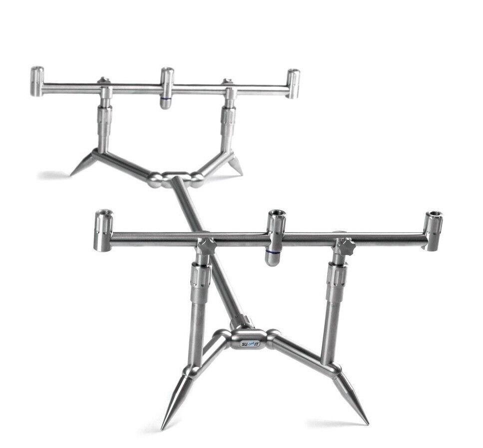 Summit Tackle 3 rod low profile Fixed STAINLESS rod pod  SPECIAL OFFER
