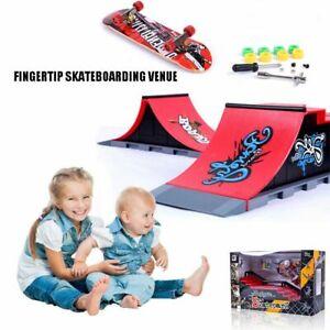 Kids-Skateboard-Set-Toys-Mini-Skate-Park-Ramp-Parts-Fingerboard-Kit-Game-Props
