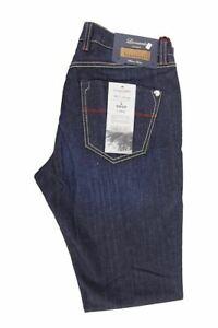 TRAMAROSSA-SARTORIA-Dark-Navy-Denim-Jeans-Taglia-32-L34-RRP185-UN18