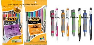 SCHOOL-SUPPLIES-BIC-7mm-Mechanical-Pencils-Erasers-Cristal-Xtra-Bold-Pens