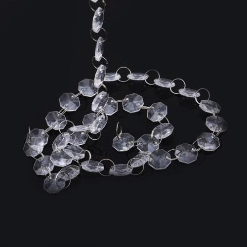 Clear Glass Crystal Bead Garland Chandelier Hanging DIY Wedding YI