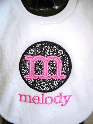 Personalised Baby Bib Monogram Any Name Christening//Name Day// Twins//Creche Gift