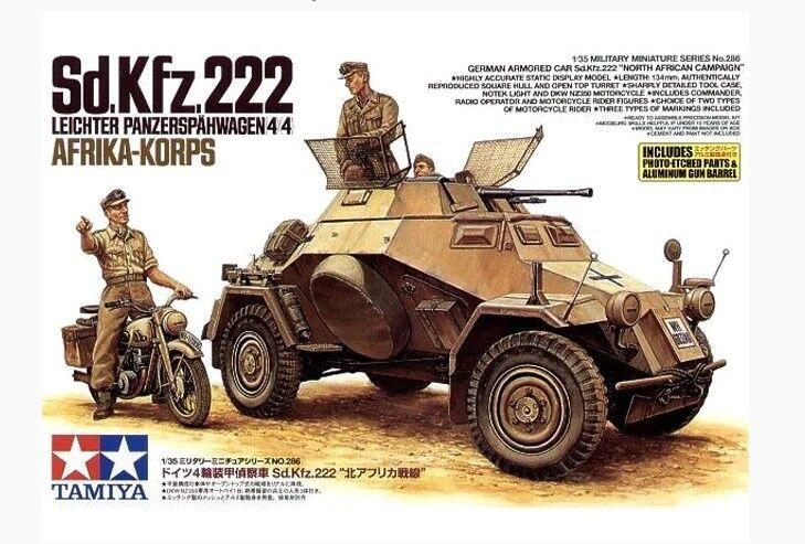 Tamiya 1 35 scale WW2 German Armored Car Sd.Kfz 222 Africa Korps DAK
