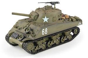 130c945ca280 RTR Model Heng Long 1 16 M4A3 Sherman Radio Control RC Tank Smoke ...