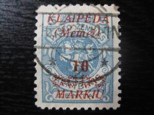 MEMEL-KLAIPEDA-Mi-135-scarce-used-stamp-CV-14-50