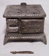 CHARM CHILD'S ORANTE CAST IRON TOY WOOD STOVE 1930s