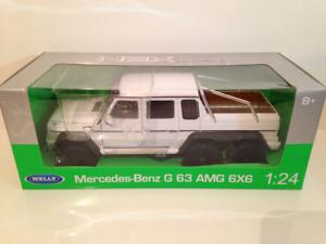 Mercedes AMG G63 6x6 Bianco 1 24 Scala Welly 24061w Nuovo