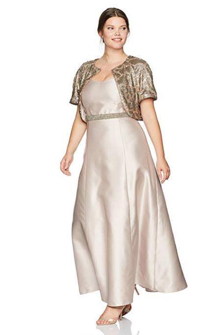 NEW Ignite Evenings Woherren Two Piece Short Sleeve Jacket Gown Dress  Größe 14W