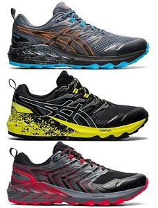 Chaussures Asics Gel Trabuco Terra Trail Running Homme Noir Schuhe Fuji