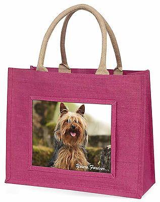 Yorkshire Terrier 'Yours Forever Große Rosa Einkaufstasche Weihnachten P,