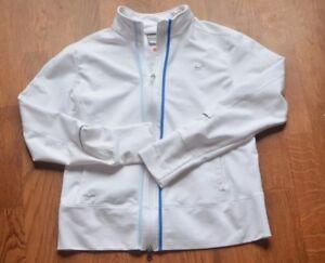 1cadd52e89af Nike Dri Fit Jacket womens juniors Light Coat large white zip ...