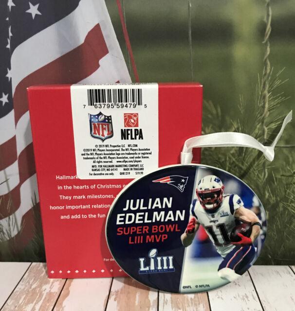 Hallmark NFL Super Bowl LIII MVP Ornament New England Patriots Julian Edelman