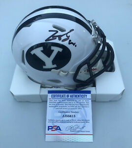 Zach Wilson Signed BYU Cougars Speed Mini Helmet Autographed Auto ~ PSA DNA COA