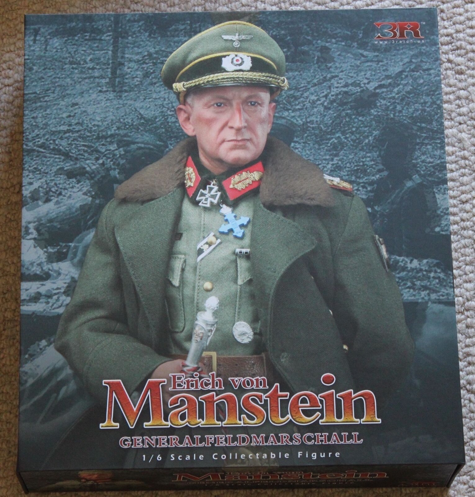 Did action figure german erich von manstein 1 6 12'' boxed hot toy ww11 dragon