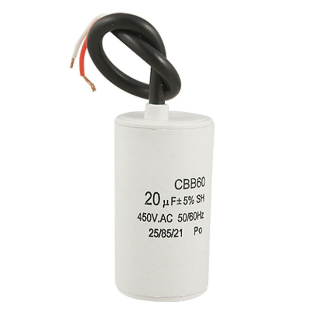 CBB60 20uF Wire Lead Cylinder Motor Run SH Capacitor AC 450V HY