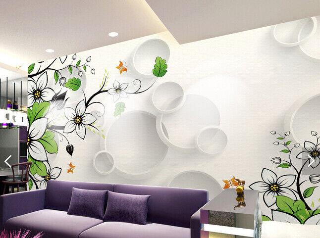 3D Flowers Rattan 74  Wall Paper Murals Wall Print Wall Wallpaper Mural AU Lemon