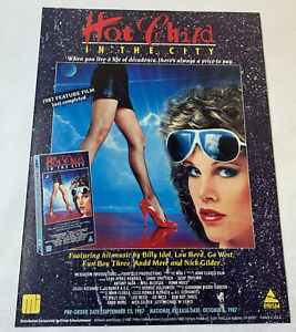 1987 vhs trade ad ~ HOT CHILD IN THE CITY