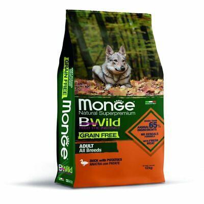 Monge Bwild Grain Free All Breeds Con Anatra E Patate 12 Kg Crocchette Cane Ebay