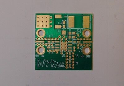 RO4350 PCB for Hittite Frequency Divider HMC361S8G HMC362S8G HMC363S8G HMC365S8G