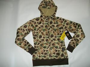 8e6cfaf4bb86d BURTON Hooded DUCK Hunting CAMO Full Zip SWEATSHIRT Jacket Womens Sz ...