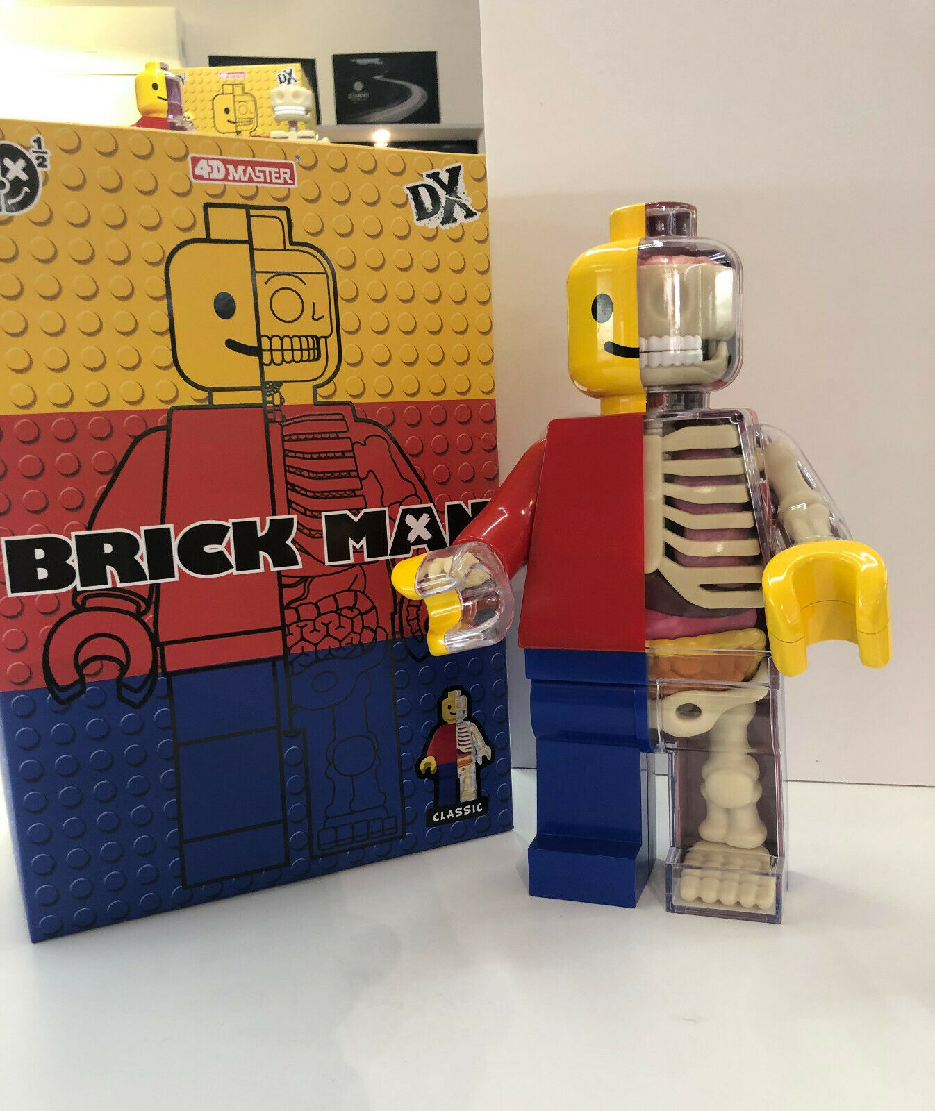 Brick Man classic 30cm 4D Master Jason freeny toys action figures 36 pezzi