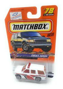 MATCHBOX-MBX-Superfast-1999-no-78-CHEVROLET-TAHOE-Emergency-USA-modello-esclusivo