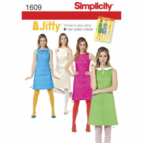 Simplicity SEWING PATTERN 1609 Misses Retro Jiffy Dress 6-14 or 14-22