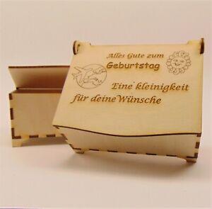 Geschenk-034-Zum-Geburtstag-034-Schatulle-Holz-Geldgeschenk-Holzbox-Personalisiert