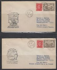 CANADA, 1934. First Flights, Prince Albert - La Cosse, AAMC 556 (4)